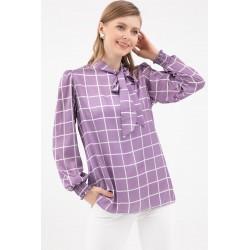 Bluza Eleganta Lila in Carouri