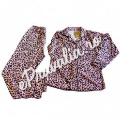 Pijama Roz Leopard