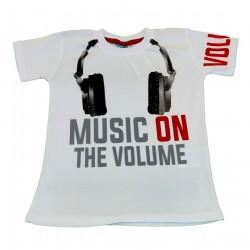 Tricou Alb Music On